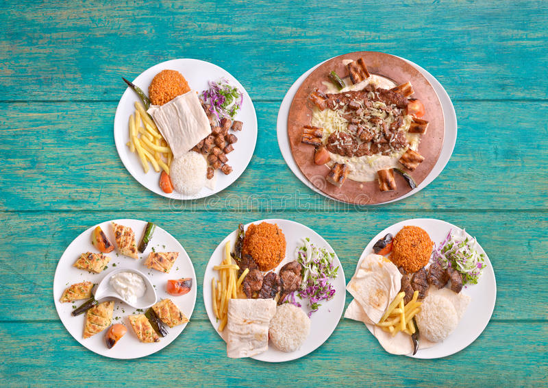 Turks traditioneel voedsel stock afbeeldingen