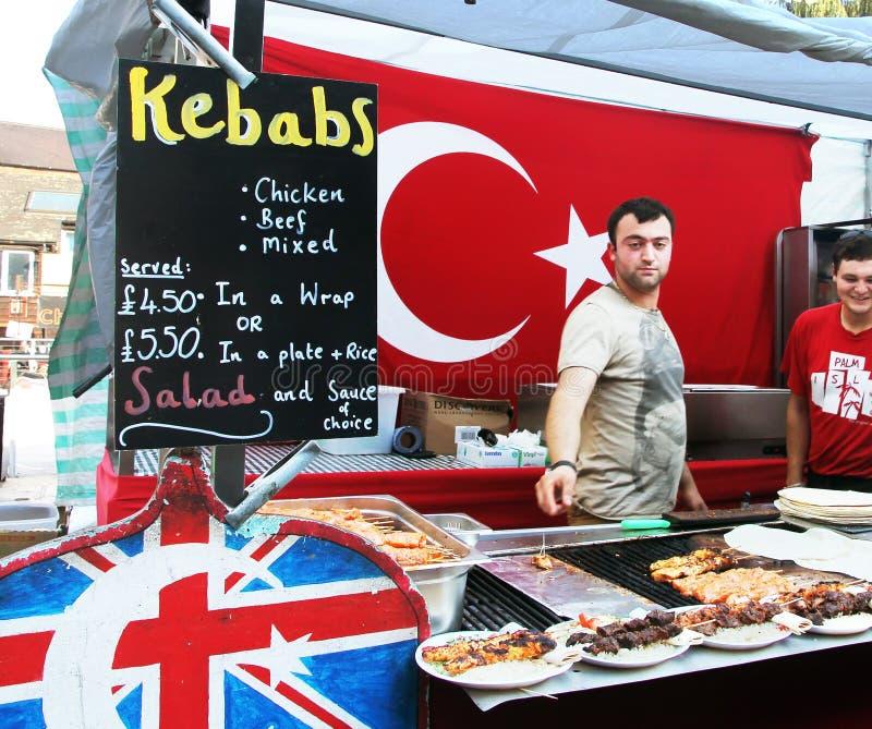 Turks Voedsel in de Markt van Camden stock foto's