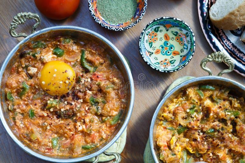Turks voedsel Menemen stock foto