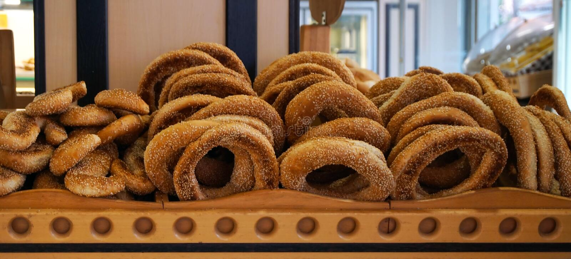 Turkse bagel met sesam royalty-vrije stock foto
