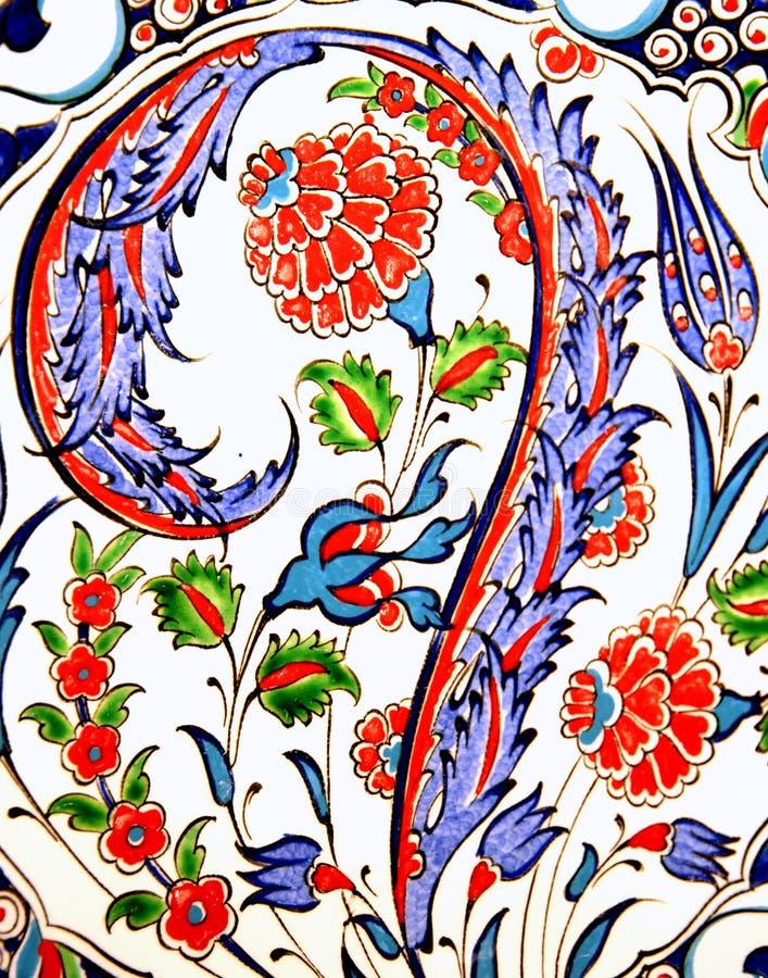 Turkse bloem-gevormde tegels royalty-vrije stock afbeelding