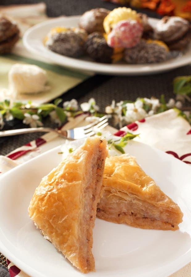 Turkse dessertbaklava stock foto