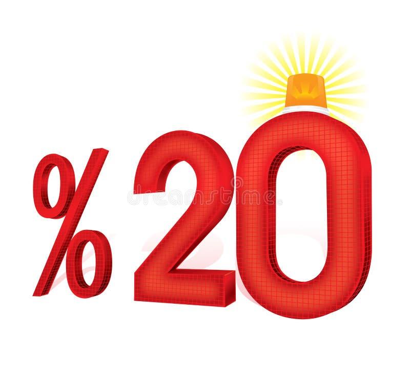 % 20 Turkse het Percentageillustratie van de Kortingsschaal royalty-vrije illustratie