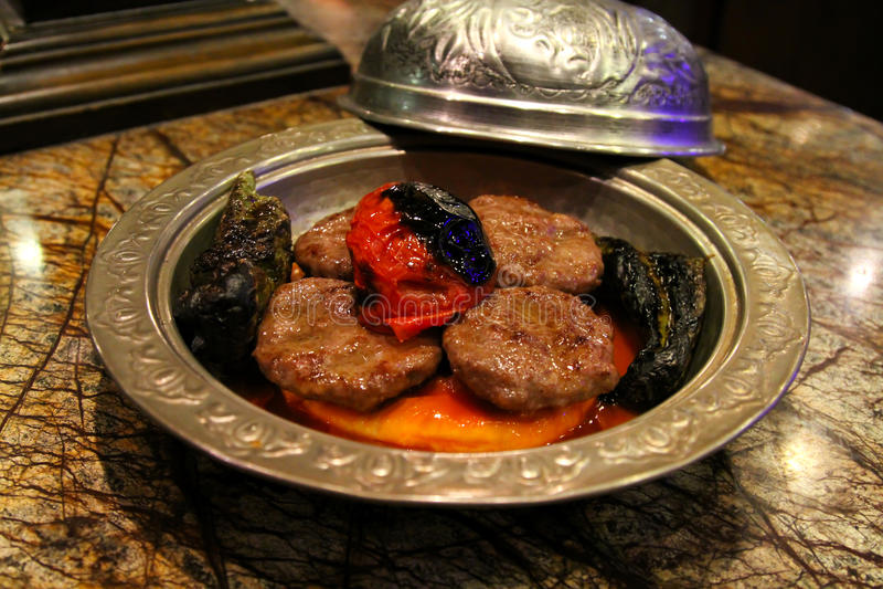 Turkse inegol kofte royalty-vrije stock afbeelding