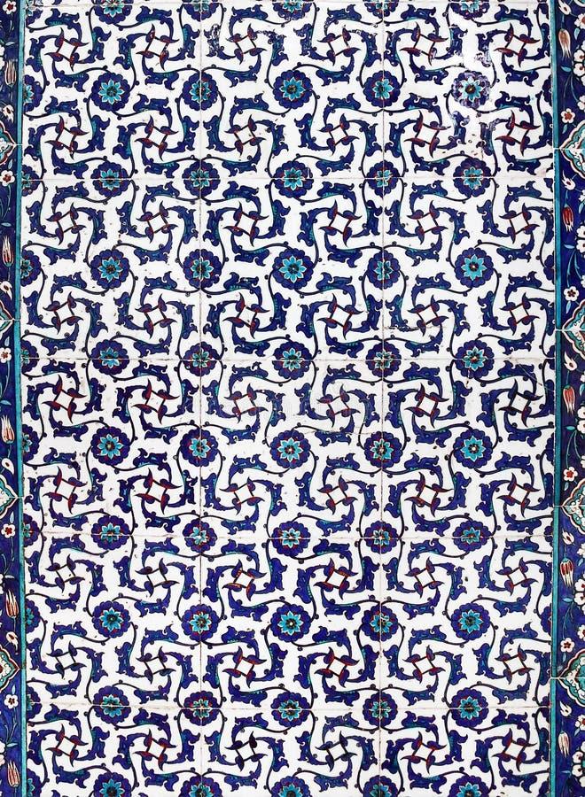 Turkse keramische tegels, Istanboel stock foto's