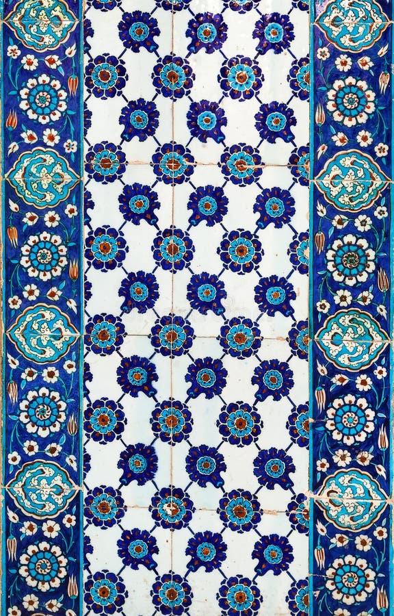 Turkse keramische tegels, Istanboel royalty-vrije stock afbeeldingen