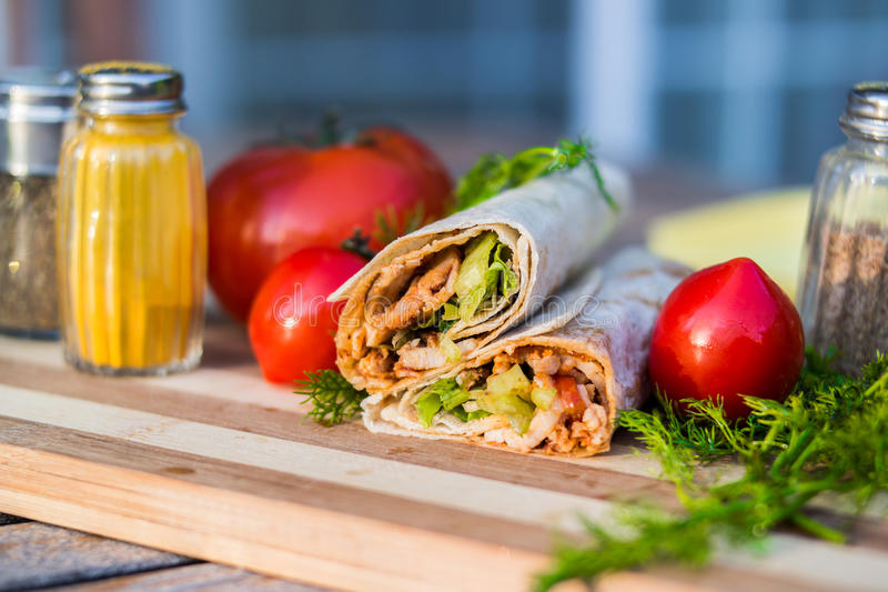 Turkse Kip Doner/Shawarma royalty-vrije stock afbeeldingen