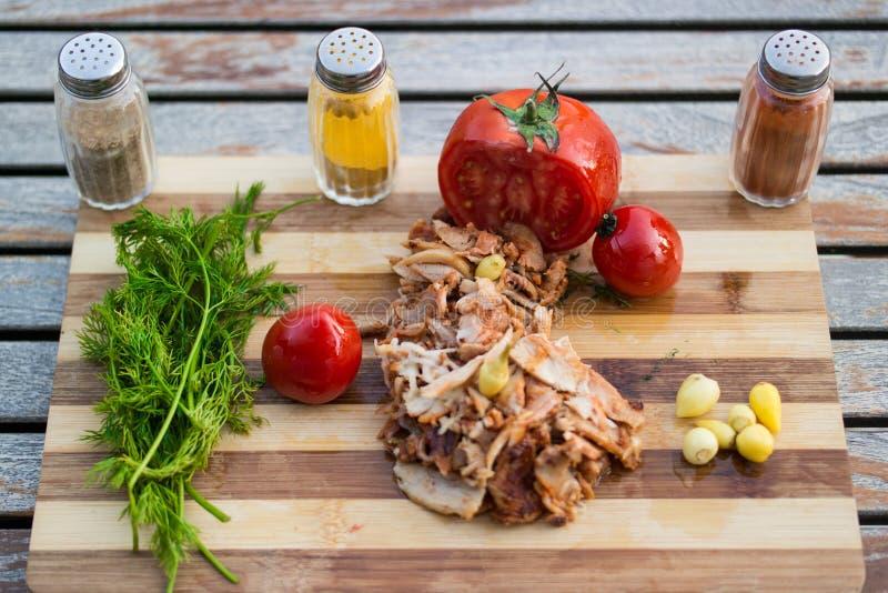 Turkse Kip Doner/Shawarma royalty-vrije stock foto's