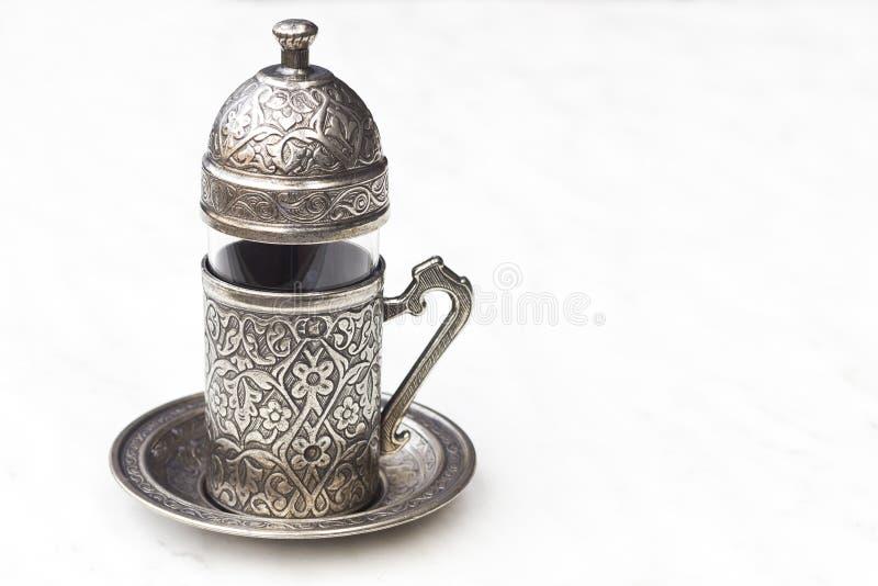 Turkse koffiekop royalty-vrije stock foto