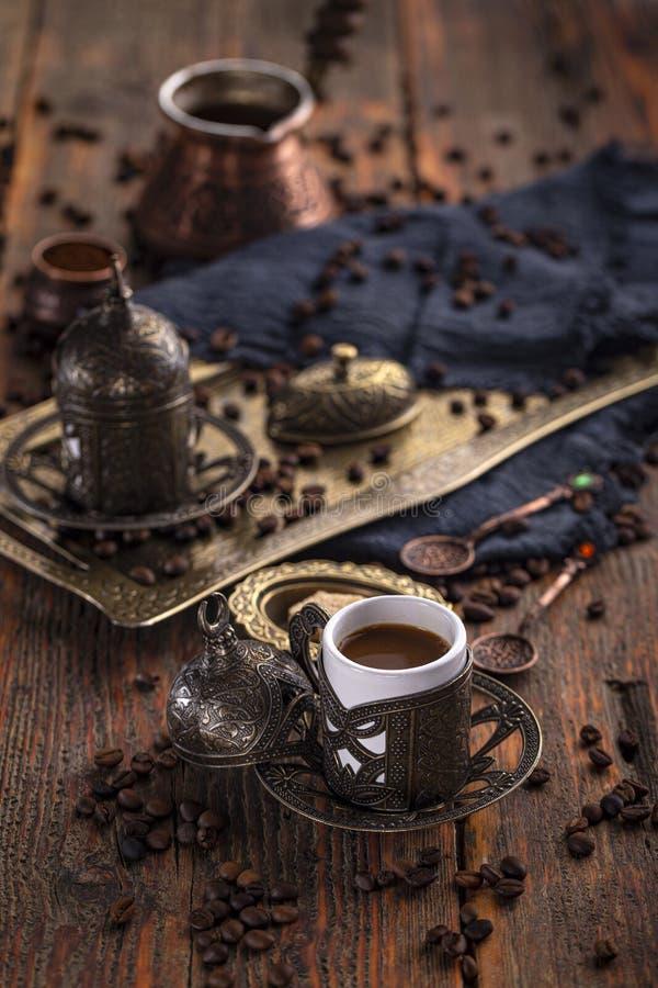 Turkse koffiekop stock fotografie