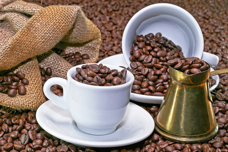 Turkse koffiepot royalty-vrije stock foto's