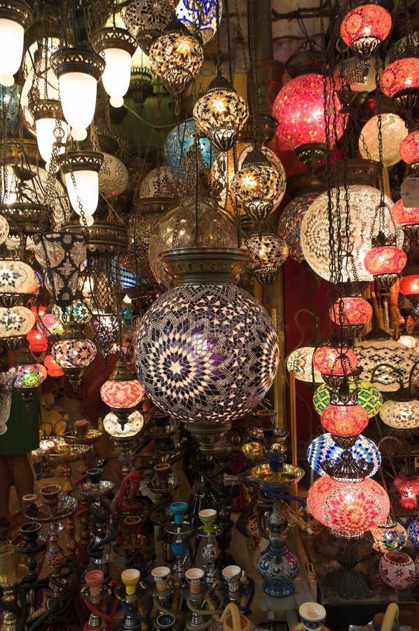 Turkse Lantaarns in Grote Bazaar royalty-vrije stock afbeeldingen