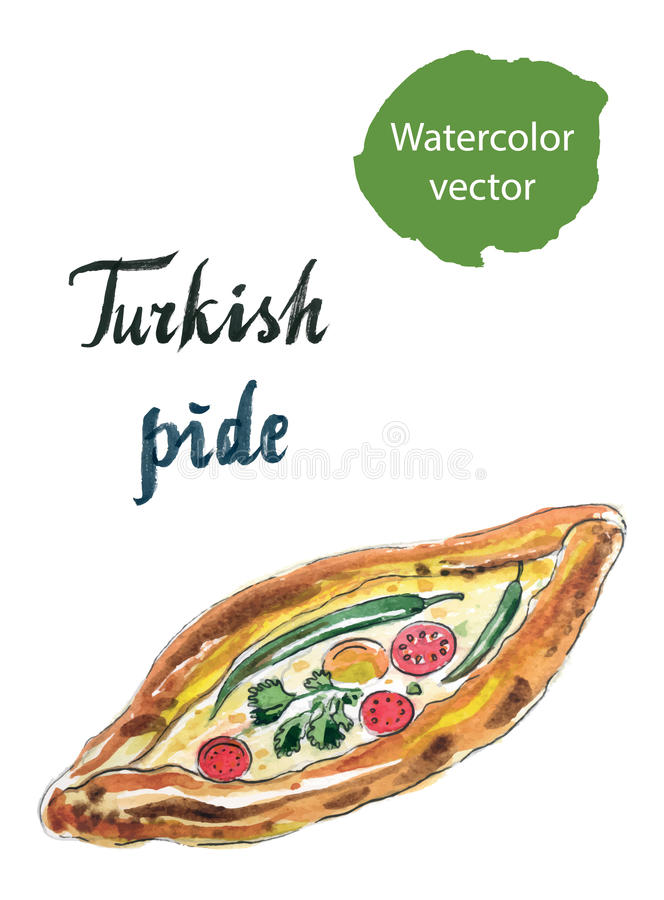 Turkse pide stock illustratie
