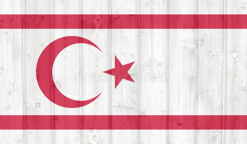 Turkse Republiek van de Noordelijke Vlag van Cyprus vector illustratie