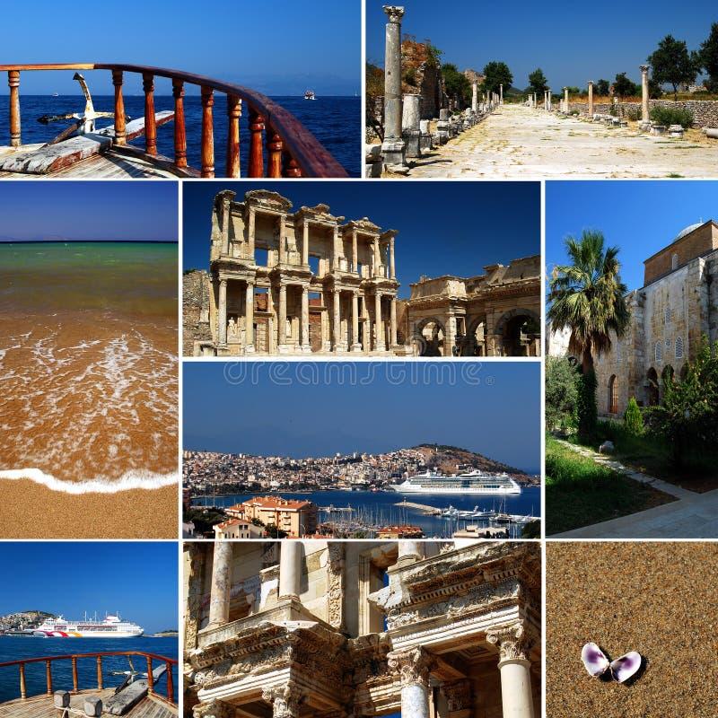 Turkse riviera - toerismecollage royalty-vrije stock fotografie