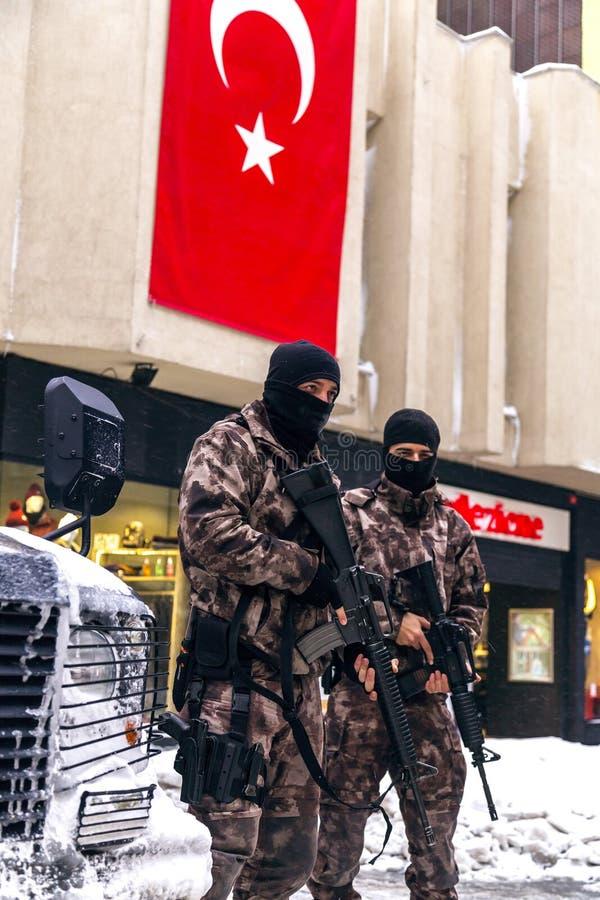 Turkse Snelle Reactie Kracht Gespecialiseerd Team Cevik Kuvvet royalty-vrije stock fotografie
