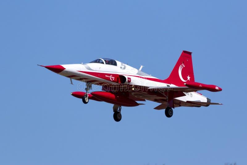 Turkse Sterren: Het Turkse team van Luchtmachtaerobatic royalty-vrije stock afbeelding