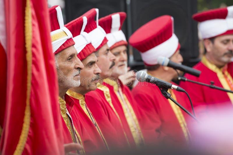 Turkse traditionele militaire fanfare stock afbeelding