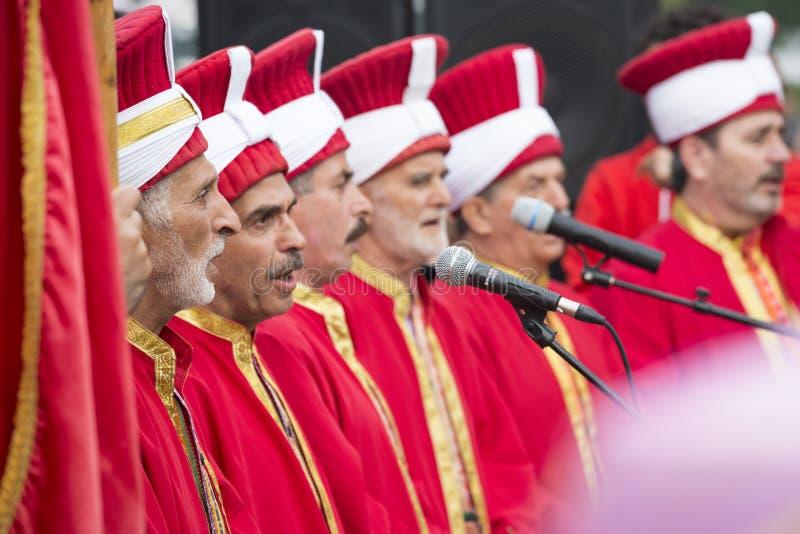 Turkse traditionele militaire fanfare royalty-vrije stock foto's