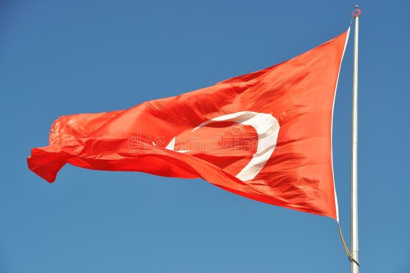 Turkse vlag royalty-vrije stock foto