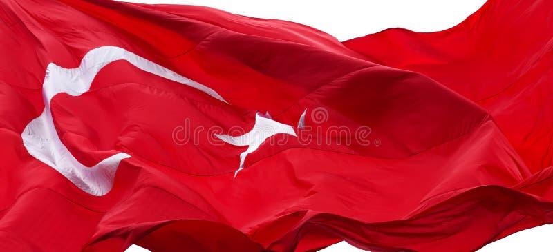Turkse vlag die in wind golven royalty-vrije stock afbeeldingen