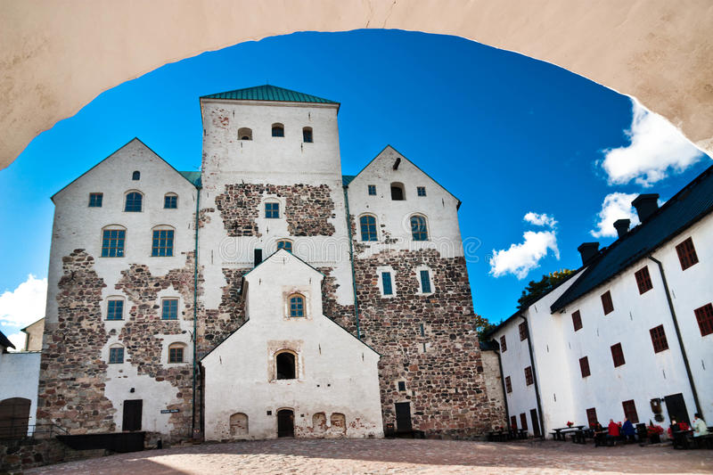 Turku castle. Medieval castle in Turku, Finland/ Turun linna. Built in the 13th century royalty free stock photo