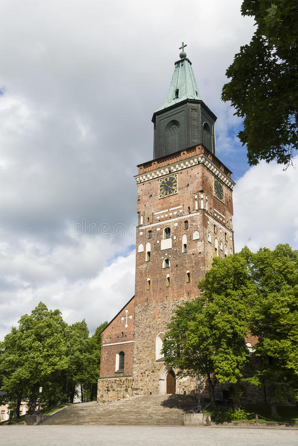 Turku cathedral Finland. Turku cathedral, Evangelical Lutheran Church of Finland stock photos