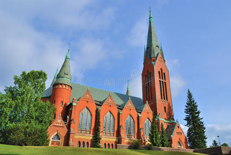 Turku, Finlandia.  Chiesa di St Michael fotografia stock libera da diritti