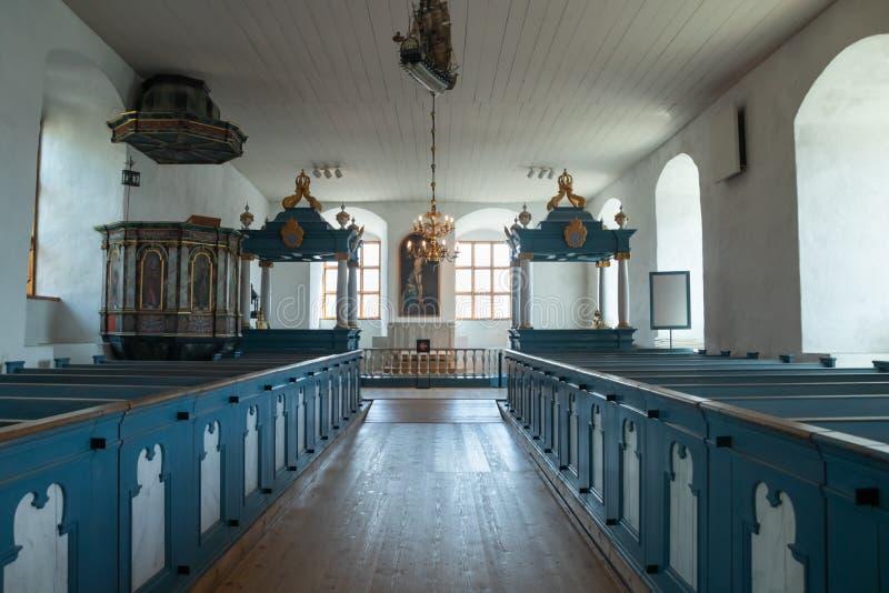 Turku Finlandia, Czerwiec, - 29, 2019: Kościół w starym średniowiecznym kasztelu obraz royalty free