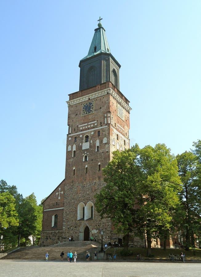 Turku katedra Macierzysty kościół Ewangelicki Luterański kościół Finlandia w Turku, Finlandia, Europa zdjęcie royalty free