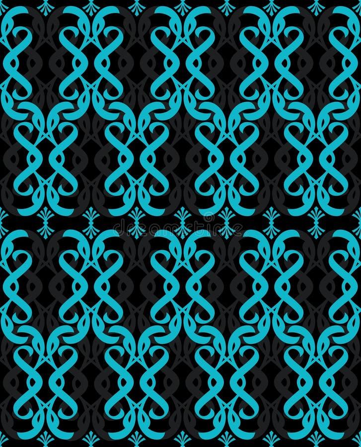 turkus błękitny bezszwowa tapeta royalty ilustracja