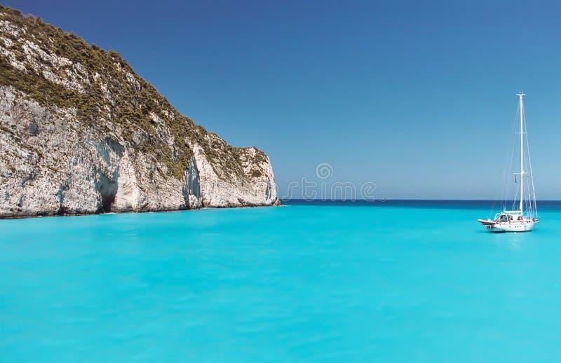 turkus grecki bay zdjęcia stock