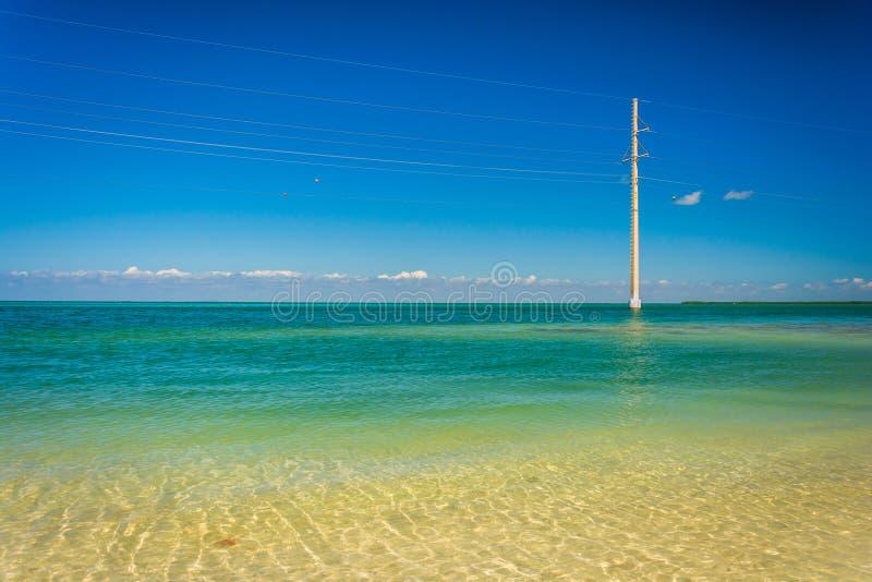 Turkus nawadnia i linie energetyczne w zatoce meksykańskiej, widzieć dla obrazy royalty free