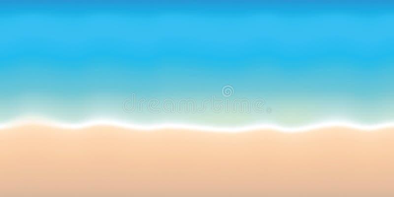 Turkus wodnej i piaskowatej plaży wakacje letni tło royalty ilustracja