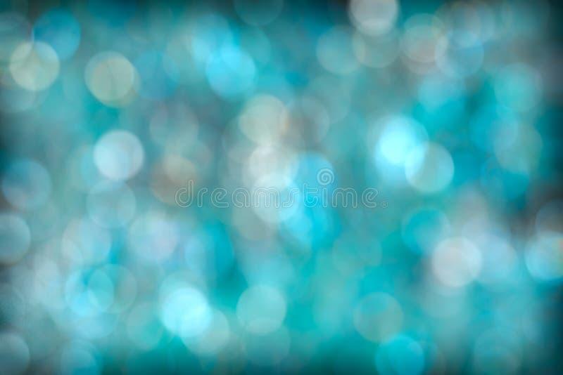 Turkusowego Aqua Bokeh Abstrakcjonistyczny tło obraz royalty free