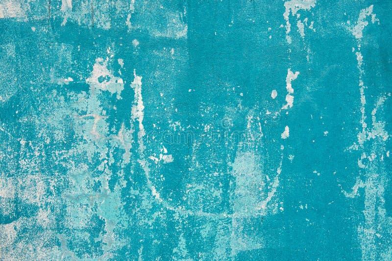 Turkusowego błękita ściany tekstury tła Grungy wietrzejący wallpape zdjęcie stock