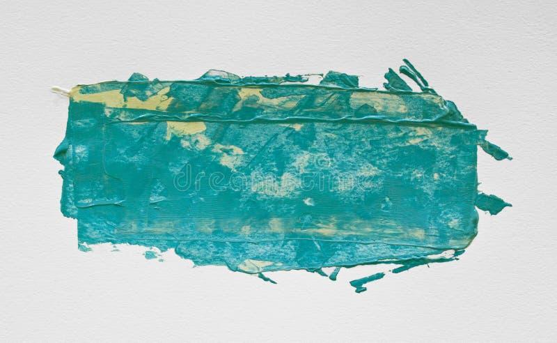 Turkusowej akwareli akrylowy obraz z muśnięciem obraz royalty free