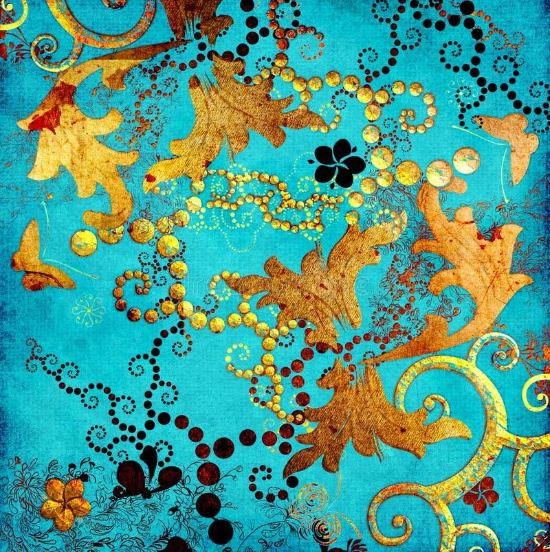 Turkusowi wzory ilustracji