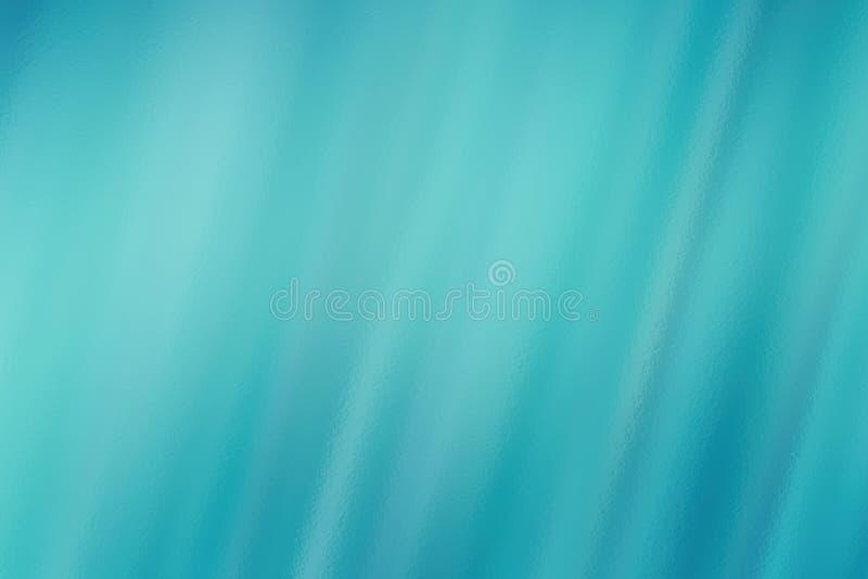 Turkusowy abstrakcjonistyczny szklany tekstury tło lub wzór, kreatywnie projekta szablon royalty ilustracja