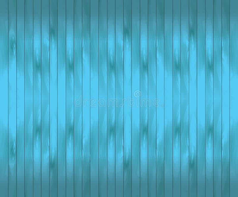Turkusowy drewniany tekstura abstrakta tło ilustracja wektor