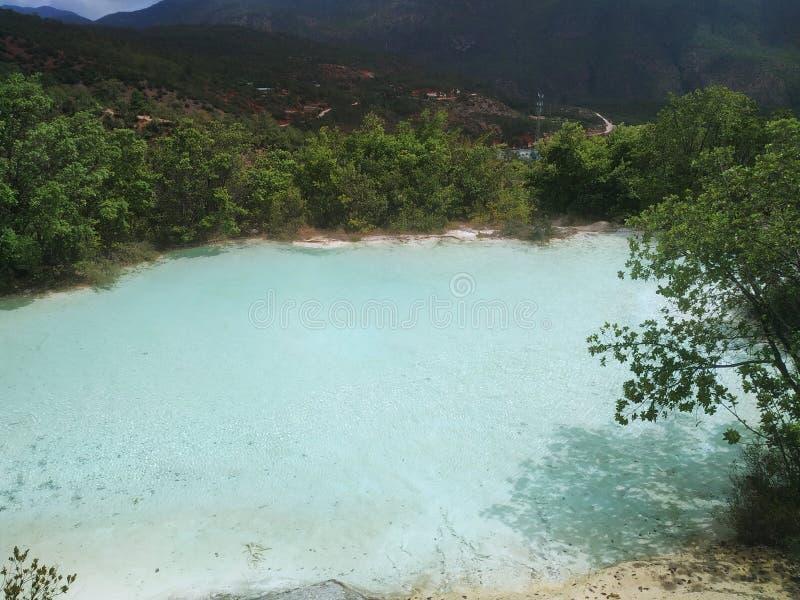 Turkusowy jezioro fotografia stock