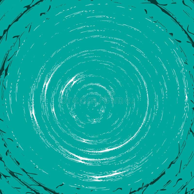 Turkusowy kłębowisko wzór ilustracja wektor