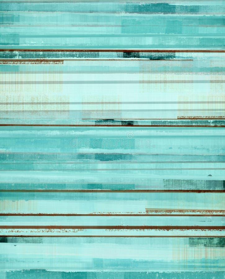 Turkusu i Brown Abstrakcjonistycznej sztuki obraz zdjęcia royalty free
