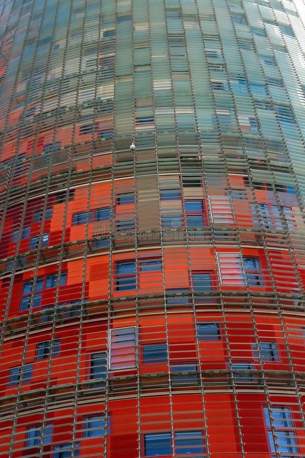 Turm Agbar. Barcelona-Markstein, Spanien. stockfotos