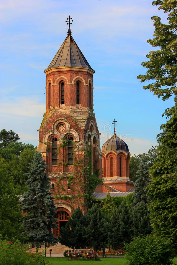 Turm Curtea de Arges Cathedral stockfotografie
