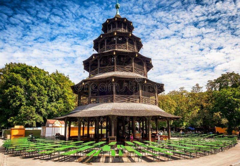 Turm de Chinesischer - Munich images stock