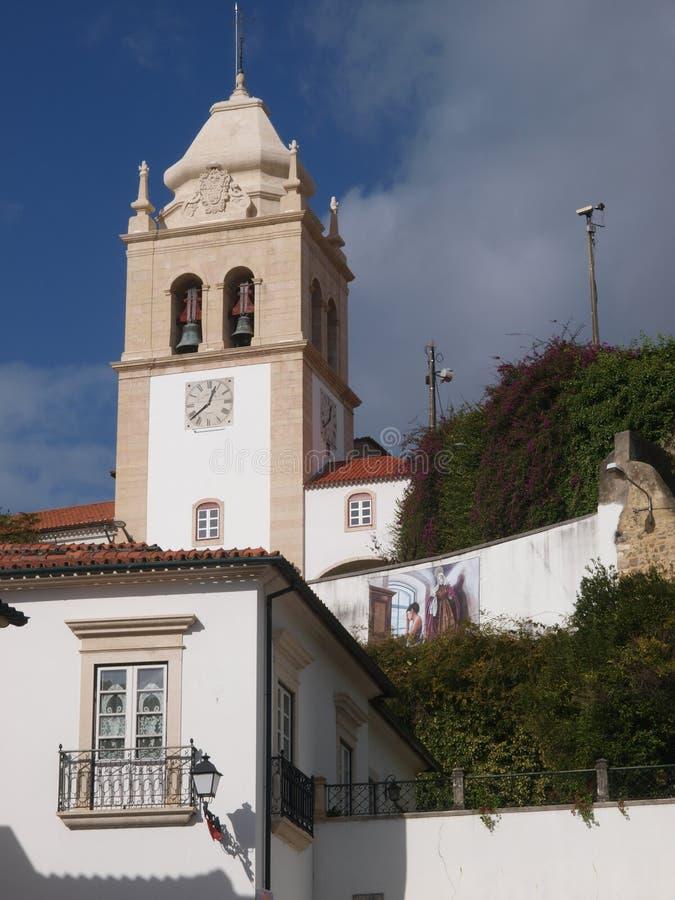 Turm der alten Stadtkirche in Leiria, Centro - Portugal stockfoto