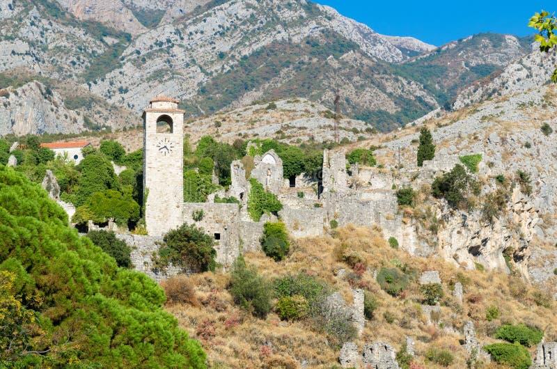 Turm an der alten Stange, Montenegro stockbilder