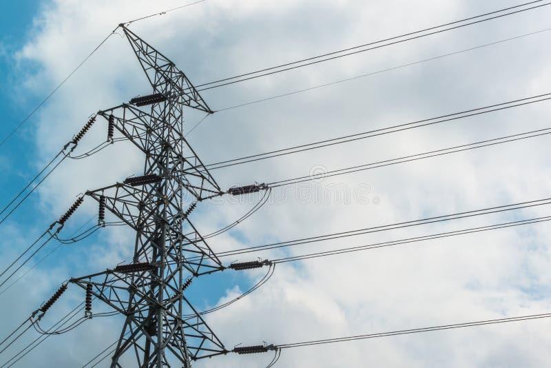 Turm der elektrischen Leistung lizenzfreie stockfotos