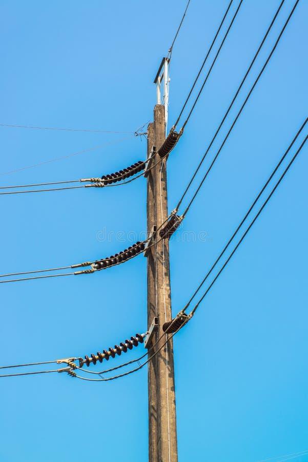 Turm der elektrischen Leistung stockfotos